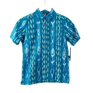 Volcom Youth Button Down Shirt SIze Small 8 Youth